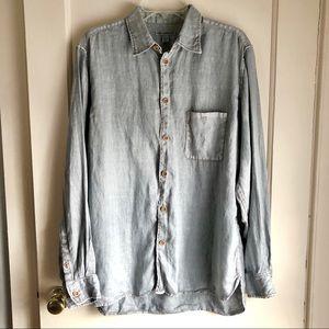 Men's Martin Gordon Grey/Blue Button Up Shirt